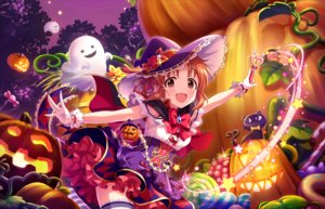 Rating: Safe Score: 16 Tags: annin_doufu bow brown_eyes brown_hair candy cape dress food fruit gloves halloween hat idolmaster idolmaster_cinderella_girls idolmaster_cinderella_girls_starlight_stage magic night ponytail pumpkin ribbons skirt tagme_(character) thighhighs wand witch witch_hat User: luckyluna