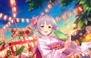 Rating: Safe Score: 18 Tags: annin_doufu brown_eyes cat_smile clouds drums fan festival group idolmaster idolmaster_cinderella_girls idolmaster_cinderella_girls_starlight_stage instrument japanese_clothes kimono koshimizu_sachiko leaves petals purple_hair short_hair sky sunset tagme_(character) User: RyuZU