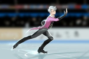 Rating: Safe Score: 12 Tags: all_male aqua_eyes gloves gray_hair male rrr_(627470487) short_hair viktor_nikiforov yuri!!!_on_ice User: mattiasc02