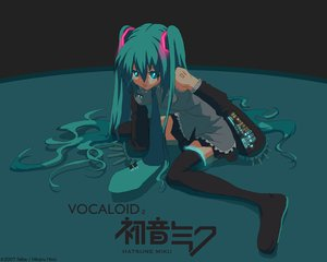 Rating: Safe Score: 44 Tags: hatsune_miku thighhighs twintails vocaloid User: Oyashiro-sama