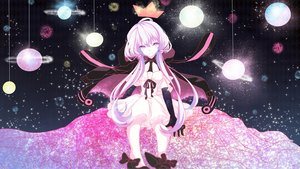 Rating: Safe Score: 107 Tags: elbow_gloves hoodie long_hair planet polychromatic space stars twintails vocaloid yotsuba_(vidaliu00) yuzuki_yukari User: Flandre93