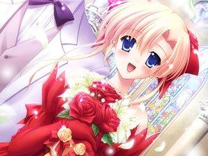Rating: Safe Score: 6 Tags: canvas2_niji_iro_no_sketch flowers housen_elis wedding User: Oyashiro-sama