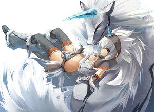 Rating: Safe Score: 203 Tags: horns kazuki_sanbi kirin_(armor) monster_hunter white User: Tensa