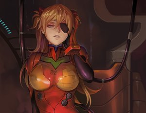 Rating: Questionable Score: 99 Tags: blue_eyes blush bodysuit brown_hair cropped dantewontdie eyepatch gloves long_hair neon_genesis_evangelion soryu_asuka_langley User: SciFi