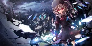 Rating: Safe Score: 96 Tags: apple228 butterfly flandre_scarlet hat red_eyes touhou weapon User: luckyluna