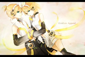 Rating: Safe Score: 33 Tags: kagamine_len kagamine_rin len_append male rin_append tama_(songe) vocaloid User: HawthorneKitty