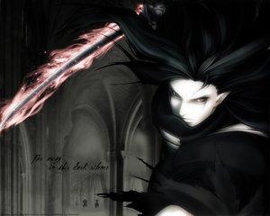 Rating: Safe Score: 31 Tags: all_male asura_(samurai_spirits) black_eyes black_hair fire gothic male pointed_ears samurai_spirits sword watermark weapon User: Oyashiro-sama