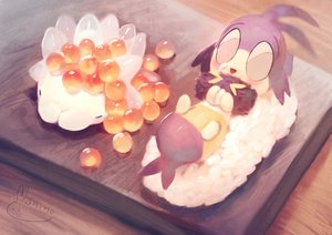 Rating: Safe Score: 14 Tags: blipbug food manino_(mofuritaionaka) nobody pokemon signed snom User: otaku_emmy