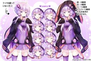 Rating: Safe Score: 34 Tags: dress hoodie kabocha_usagi long_hair purple_eyes purple_hair thighhighs translation_request twintails vocaloid voiceroid watermark yuzuki_yukari User: RyuZU