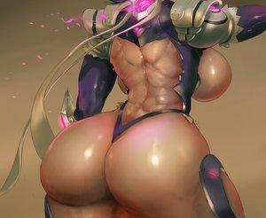 Rating: Questionable Score: 63 Tags: armor ass bodysuit breasts brown close cropped cutesexyrobutts dark_skin iroha no_bra samurai_spirits User: otaku_emmy