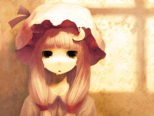 Rating: Safe Score: 62 Tags: black_eyes blonde_hair hat long_hair patchouli_knowledge tears touhou User: Oyashiro-sama