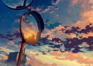 Rating: Safe Score: 43 Tags: clouds mirror mocha_(cotton) original reflection scenic signed sky sunset User: RyuZU