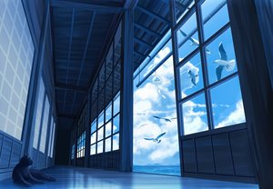 Rating: Safe Score: 106 Tags: animal bird cat clouds gensuke nobody original scenic sky water User: RyuZU