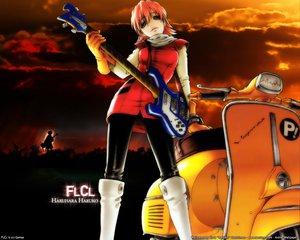Rating: Safe Score: 6 Tags: flcl guitar haruhara_haruko instrument User: Oyashiro-sama