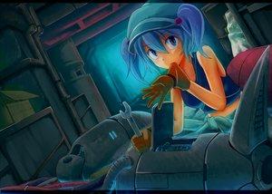 Rating: Safe Score: 68 Tags: blue blue_eyes blue_hair gloves hat industrial kawashiro_nitori short_hair tamahana touhou twintails User: PAIIS