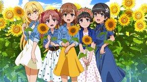 Rating: Safe Score: 38 Tags: cropped dress flowers group misaka_mikoto saten_ruiko scan shirai_kuroko shokuhou_misaki summer_dress sunflower to_aru_kagaku_no_railgun to_aru_majutsu_no_index uiharu_kazari User: gnarf1975
