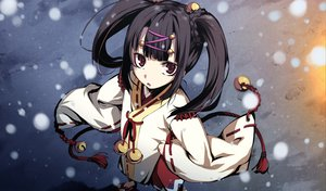 Rating: Safe Score: 58 Tags: black_hair game_cg g_yuusuke japanese_clothes kajiri_kamui_kagura mikado_ryuusui red_eyes snow twintails User: Maboroshi