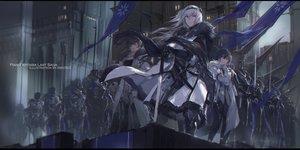 Rating: Safe Score: 64 Tags: armor blue_eyes gray_hair group headband long_hair male original pixiv_fantasia swd3e2 sword watermark weapon User: RyuZU