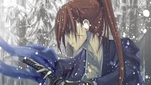 Rating: Safe Score: 135 Tags: all_male blood brown_hair himura_kenshin japanese_clothes katana kawanakajima long_hair male ponytail rurouni_kenshin scar snow sword weapon User: opai