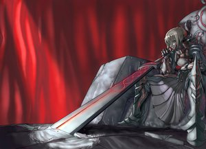 Rating: Safe Score: 45 Tags: armor fate/hollow_ataraxia fate/stay_night saber_alter sword weapon User: HawthorneKitty
