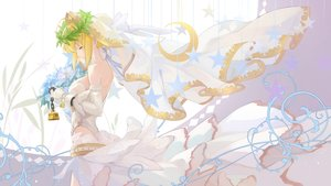 Rating: Safe Score: 41 Tags: blonde_hair bzerox chain elbow_gloves fate/grand_order fate_(series) gloves headdress saber saber_bride short_hair User: RyuZU