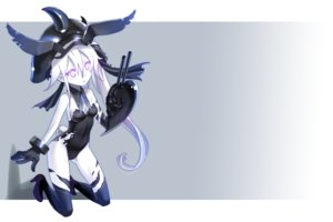 Rating: Safe Score: 104 Tags: animal_ears anthropomorphism breasts bunny_ears bunnygirl cleavage collar destroyer_hime gloves gradient hat kantai_collection katahira_masashi long_hair ponytail purple_eyes tail thighhighs torn_clothes white_hair User: kokiriloz