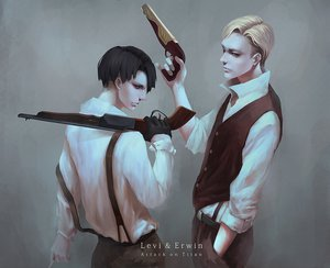 Rating: Safe Score: 42 Tags: gun irvin_smith male oryuvv rivaille shingeki_no_kyojin weapon User: FormX
