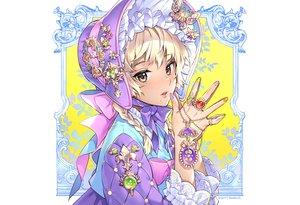 Rating: Safe Score: 42 Tags: blonde_hair bow braids brown_eyes headdress lolita_fashion nardack original ribbons User: otaku_emmy