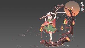 Rating: Safe Score: 69 Tags: bow cherry_blossoms gradient gray green_eyes ideolo japanese_clothes konpaku_youmu myon short_hair sword touhou tree weapon white_hair User: BattlequeenYume