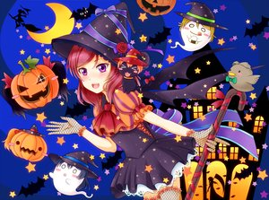 Rating: Safe Score: 19 Tags: animal ayase_eri blush bow cat hat hiro9779 hoshizora_rin kousaka_honoka love_live!_school_idol_project moon nishikino_maki pumpkin purple_eyes red_hair ribbons short_hair silhouette sonoda_umi witch_hat yazawa_nico User: RyuZU