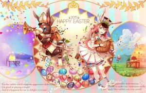 Rating: Safe Score: 48 Tags: aliasing animal animal_ears bunny_ears bunnygirl green_eyes instrument nagakura_(seven_walkers) original rabbit red_hair skirt User: Flandre93