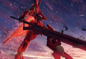Rating: Safe Score: 60 Tags: mecha mobile_suit_gundam mobile_suit_gundam_00 robot sky starlight_(stack) weapon User: Maboroshi