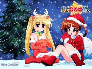 Rating: Safe Score: 16 Tags: christmas jpeg_artifacts mahou_shoujo_lyrical_nanoha snow winter User: Oyashiro-sama