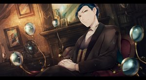 Rating: Safe Score: 10 Tags: all_male blue_hair book butterfly fate/grand_order fate_(series) kuina_(escapegoat) male sherlock_holmes_(fate) short_hair yellow_eyes User: RyuZU