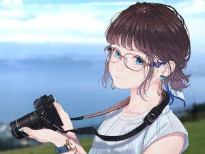 Rating: Safe Score: 46 Tags: blue_eyes glasses original saitou_(lynx-shrike) short_hair wristwear User: mattiasc02
