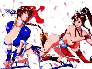 Rating: Questionable Score: 18 Tags: choker dead_or_alive fatal_fury kasumi king_of_fighters mai shiranui thighhighs User: Oyashiro-sama