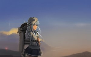 Rating: Safe Score: 44 Tags: anthropomorphism clouds flowers gray_eyes gray_hair hat hibiki_(kancolle) kantai_collection long_hair novcel school_uniform signed skirt sky verniy_(kancolle) User: luckyluna