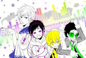 Rating: Safe Score: 12 Tags: durarara!! heiwajima_shizuo kida_masaomi orihara_izaya ryuugamine_mikado User: HawthorneKitty