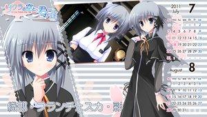 Rating: Safe Score: 16 Tags: calendar gray_eyes gray_hair orinobe_franceska_aya sakura_no_sora_to_kimi_no_koto short_hair tsukinon User: oranganeh
