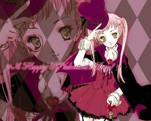 Rating: Safe Score: 11 Tags: dress green_eyes hat heart lolita_fashion long_hair minakami_kaori original pink pink_hair ribbons twintails valentine User: Oyashiro-sama