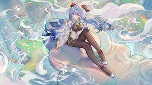 Rating: Safe Score: 118 Tags: atdan blue_hair ganyu_(genshin_impact) genshin_impact gloves horns long_hair User: BattlequeenYume