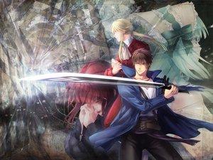 Rating: Safe Score: 19 Tags: claire_bernardus male smi sword umineko_no_naku_koro_ni ushiromiya_ange ushiromiya_leon weapon willard_h_wright User: HawthorneKitty