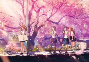 Rating: Safe Score: 135 Tags: cherry_blossoms ize original petals seifuku tree User: opai