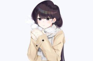 Rating: Safe Score: 26 Tags: black_eyes black_hair gloves hashiko_nowoto komi-san_wa_komyushou_desu komi_shouko long_hair scarf snow snowman winter User: otaku_emmy