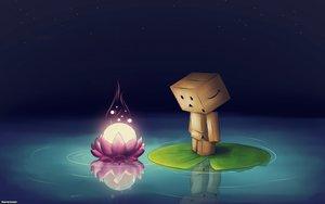 Rating: Safe Score: 69 Tags: danboo reflection sky stars water yotsubato! User: Maboroshi
