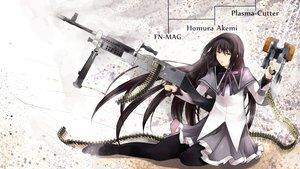 Rating: Safe Score: 64 Tags: akemi_homura dead_space garakuta gun mahou_shoujo_madoka_magica weapon User: Tensa