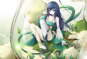 Rating: Safe Score: 153 Tags: aqua_eyes asa_ni_haru blue_hair flat_chest hotarugusa_(onmyouji) long_hair onmyouji thighhighs User: RyuZU