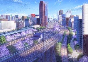 Rating: Safe Score: 76 Tags: building city clouds niko_p nobody original scenic sky train tree User: RyuZU