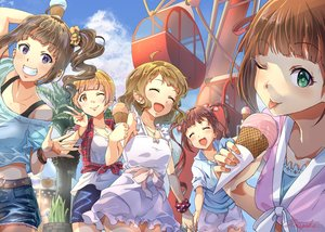 Rating: Safe Score: 33 Tags: amami_haruka blonde_hair bow brown_hair clouds dress food fukuda_noriko green_eyes group ice_cream idolmaster long_hair matsuda_arisa necklace ponytail purple_eyes red_eyes short_hair sky summer_dress suou_momoko tagme_(artist) twintails yellow_eyes yokoyama_nao User: BattlequeenYume
