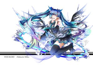 Rating: Safe Score: 137 Tags: animal_ears blue_eyes blue_hair boots catgirl hatsune_miku long_hair microphone thighhighs tie twintails tyouya vocaloid User: Flandre93